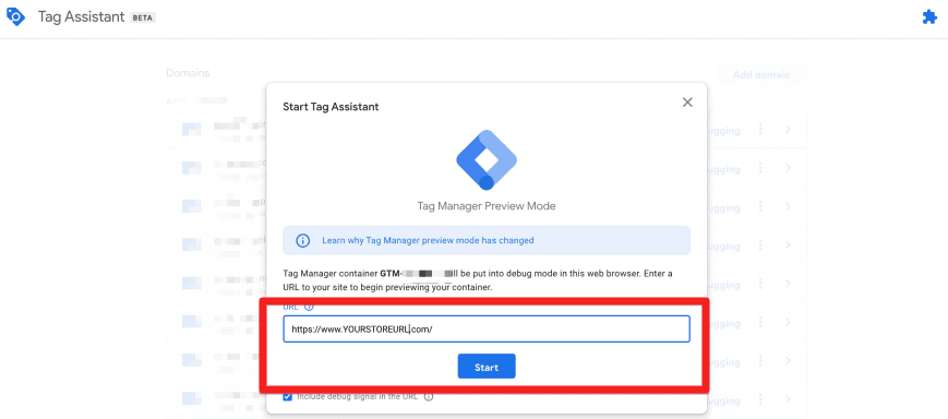 GTM Tag Assistant